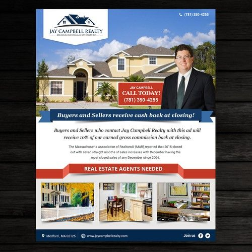 Real Estate Ad Flyer This flyer will be used as an ad in a