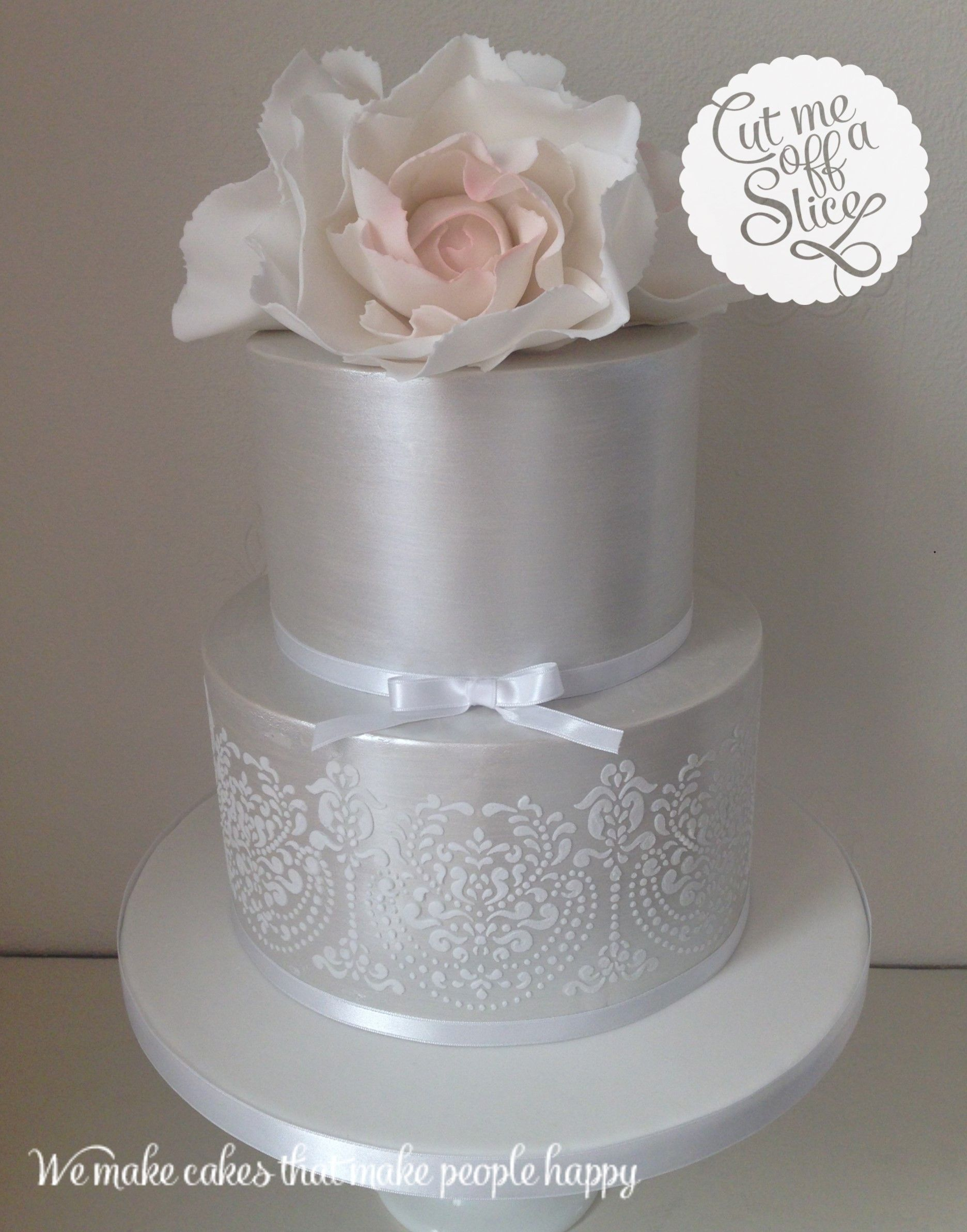 2 Tier Wedding Cake Ideas Yahoo Image Search Results Silver