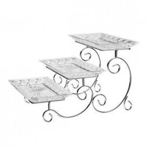 Godinger Dublin 3 Tier Server Tiered Server Dublin Crystal Tiered Stand