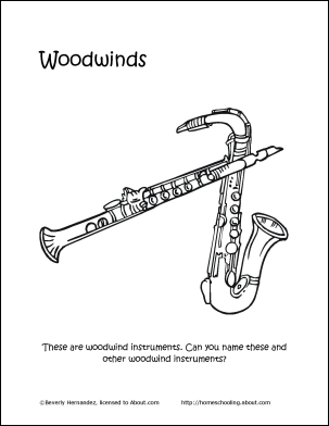 Learn About Musical Instruments With Free Printables Woodwind InstrumentMusic WorksheetsWord SearchMusic ClassColoring PagesMusical