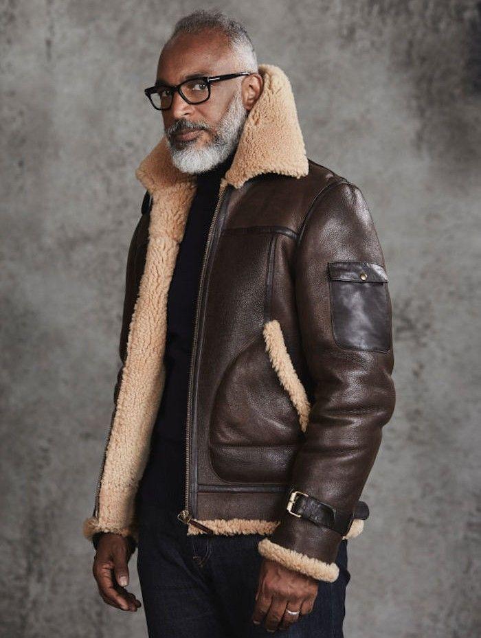 Veste en cuir classe homme