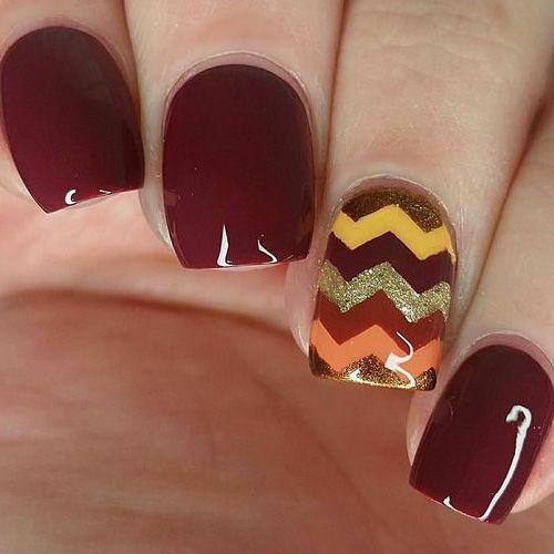 Best Fall Nails for 2018 - 65 Trending Fall Nail Designs   Gel manicure, Nail  nail and Manicure - Best Fall Nails For 2018 - 65 Trending Fall Nail Designs Gel