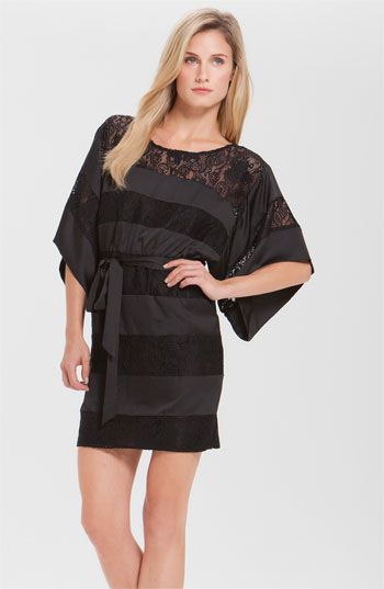 Laundry by Shelli Segal Lace Stripe Kimono Dress available at  Nordstrom 95f48f81c