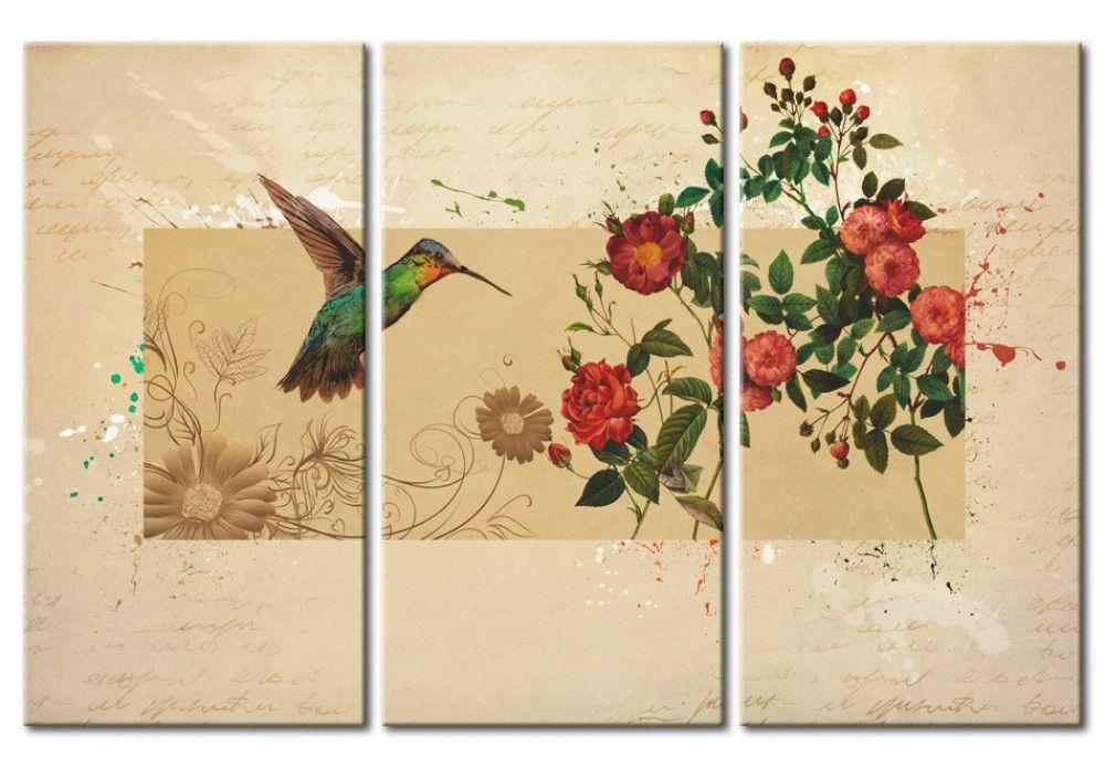 Colibr y rosas estilo vintage pinterest colibri - Bimago cuadros modernos ...