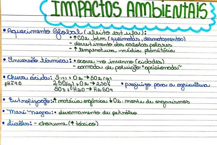 Resumo De Ecologia Impactos Ambientais Resumos Enem Materias Ensino Medio Ecologia Enem