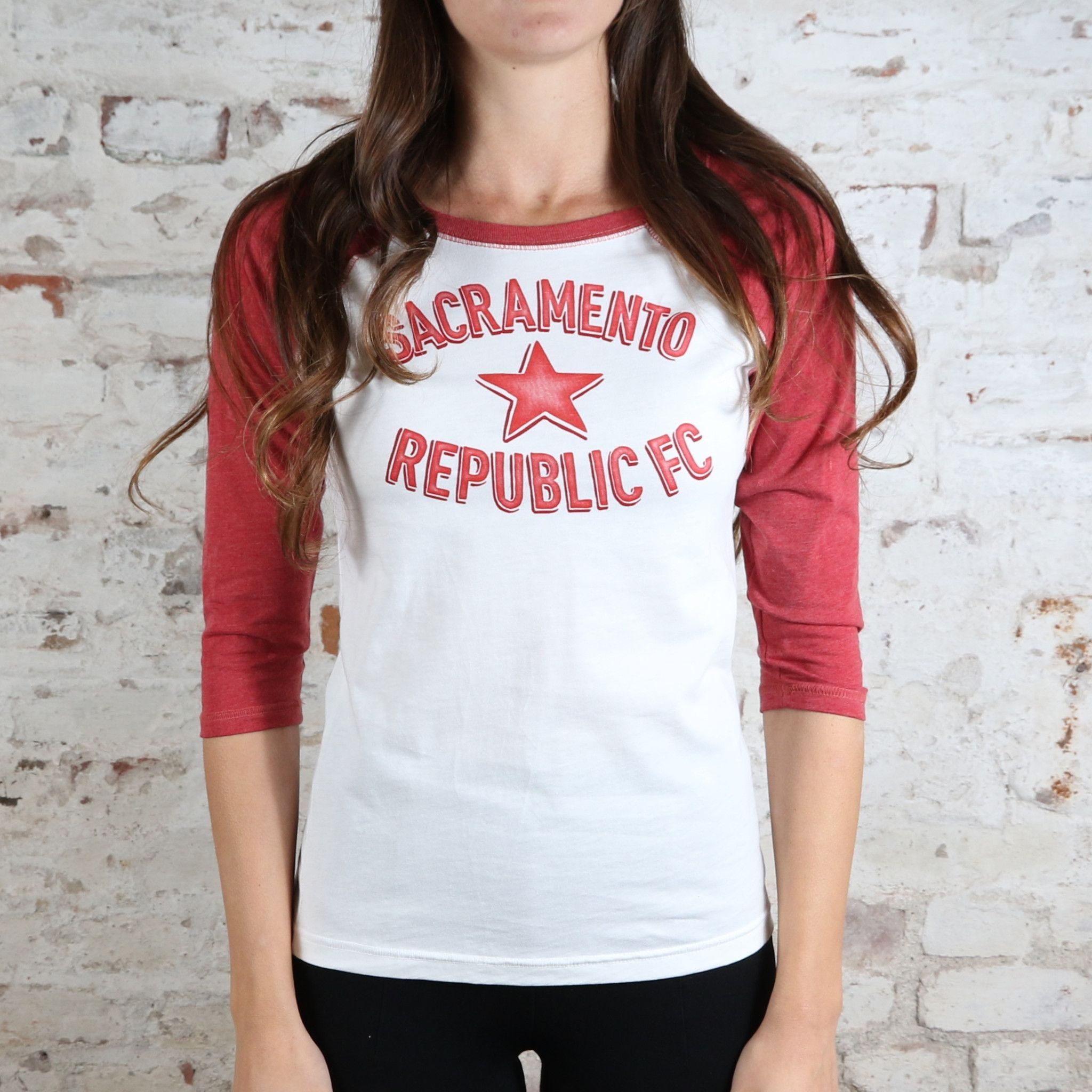 Women's Raglan Tee with Arched Logo