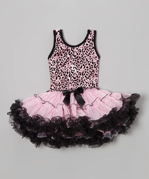 43a803cc8e63 Look at this Popatu by Posh Pink Leopard Sequin Ruffle Dress - Toddler on  #zulily today!