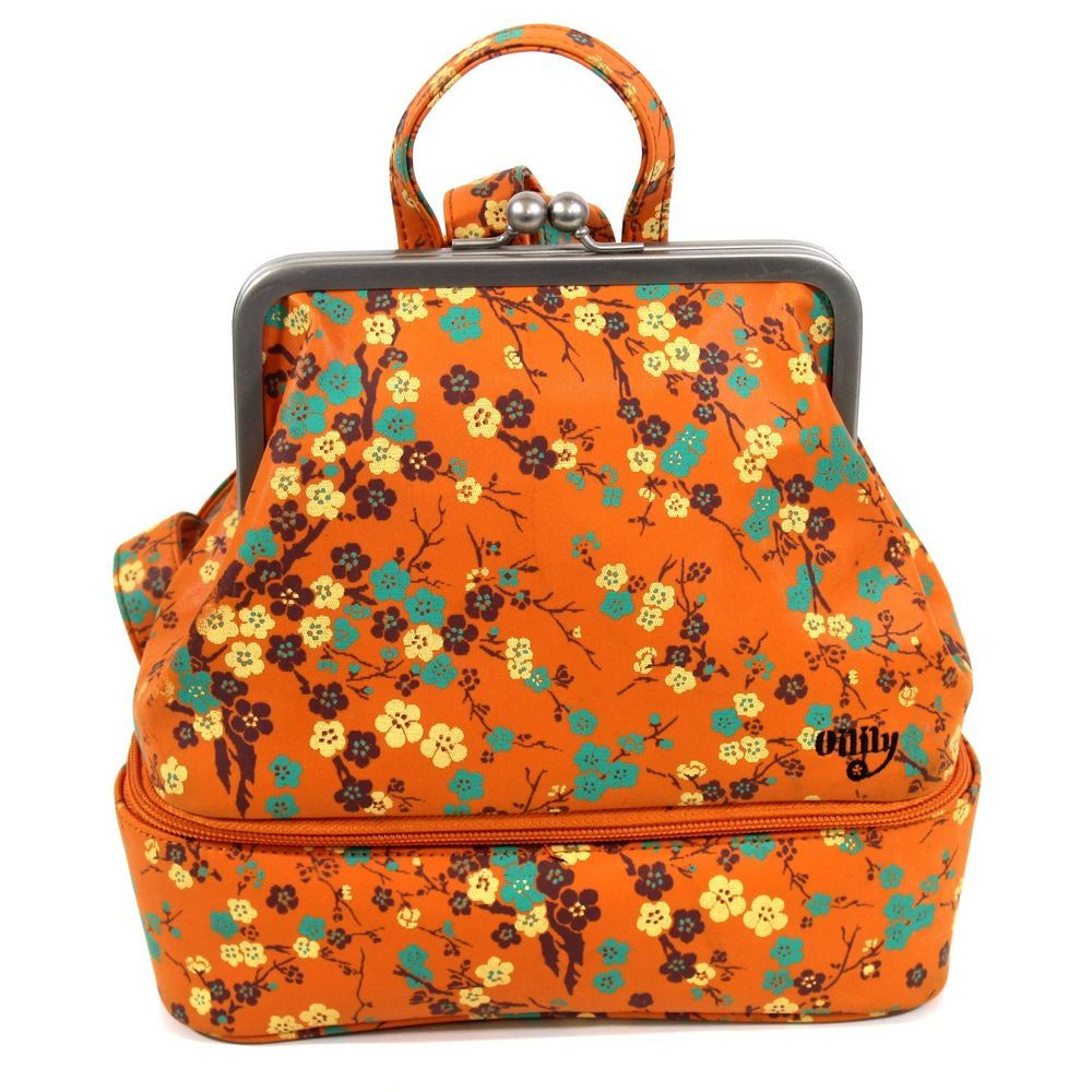 Oilily Makeup Cosmetic Bag Backpack Style Bag Vintage
