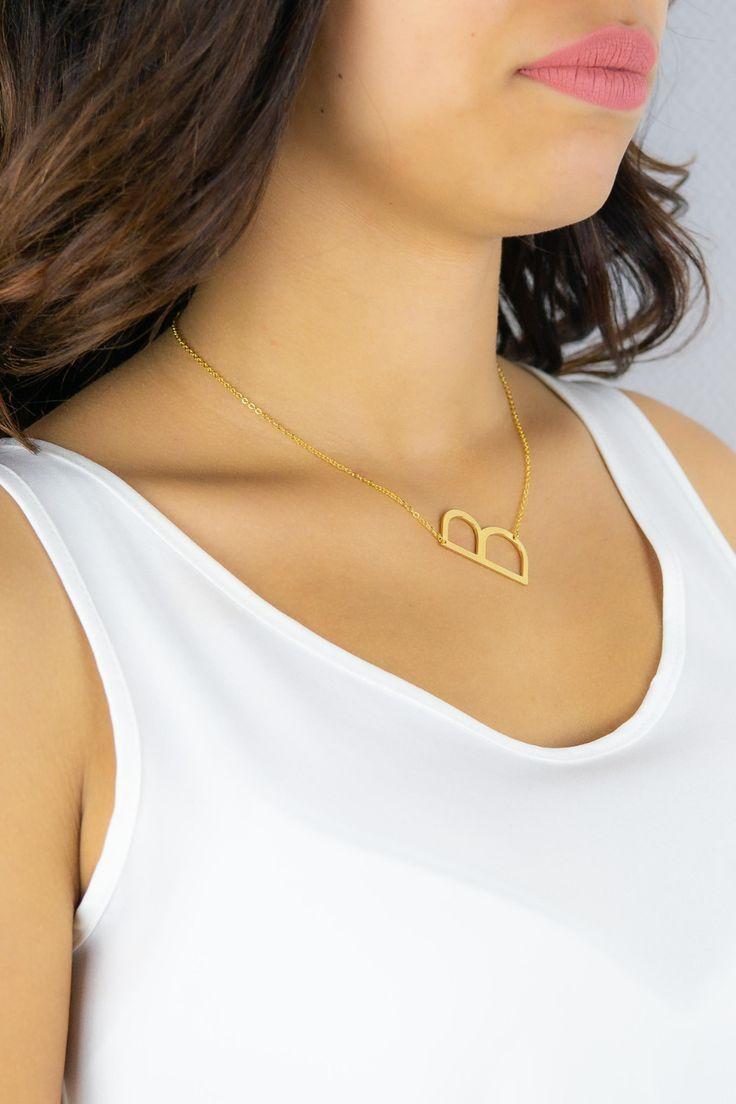 46++ Initial letter necklace sideways ideas in 2021