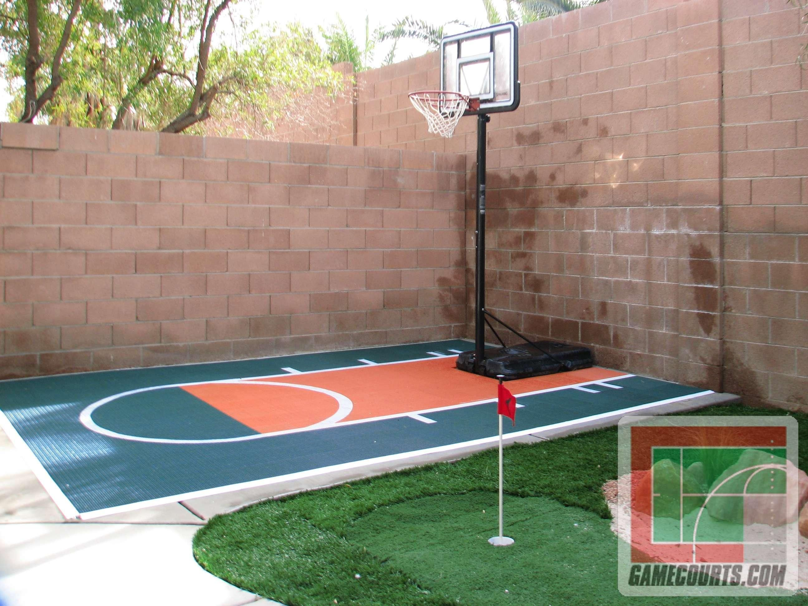 We could probably fit a mini court like this in one of the for Outdoor sports court