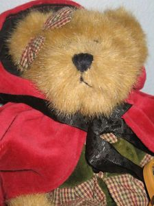I SOLD HER ON EBAY: Boyd's Little Red Riding Hood teddy bear is on her way...to your house???  Click on the picture to find more great teddy bears in my eBay store!  #teddybears #boyds