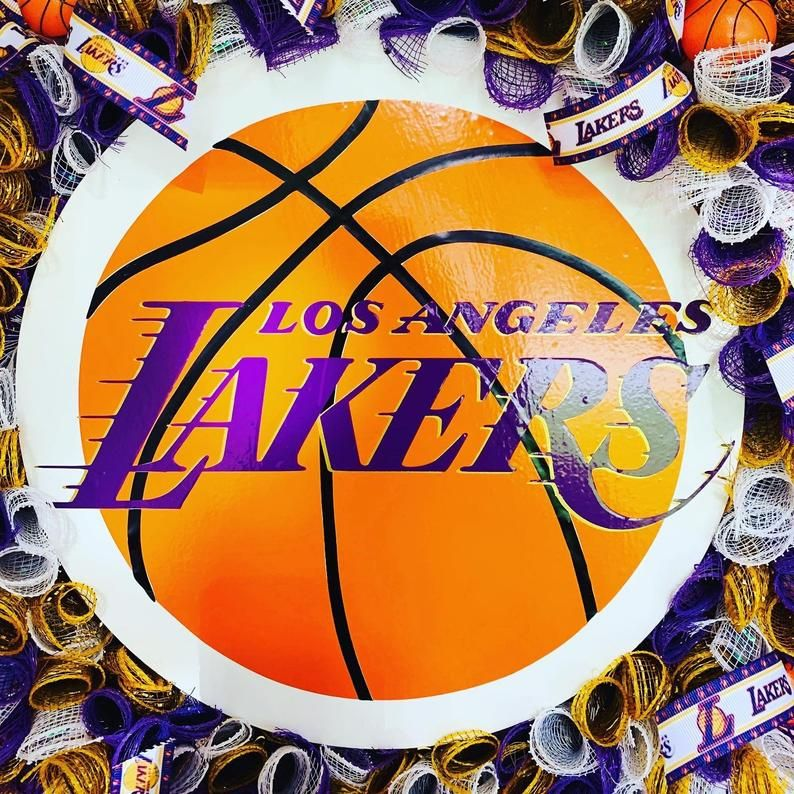 LA Lakers Wreath Lakers Wreath NBA Wreath Basketball   Etsy