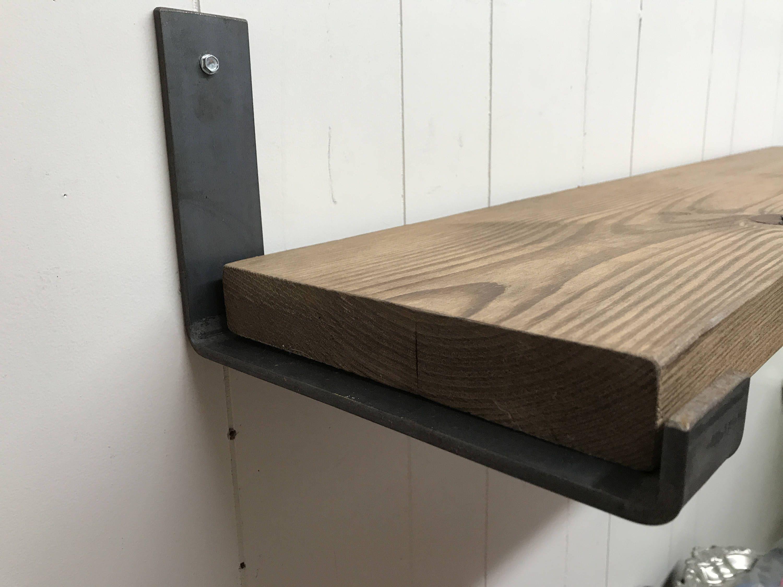 12 Inch Deep X 2 Wide X 1 4 Thick Steel Shelf Bracket Rustic Etsy In 2020 Steel Shelf Brackets Shelf Brackets Shelf Brackets Rustic