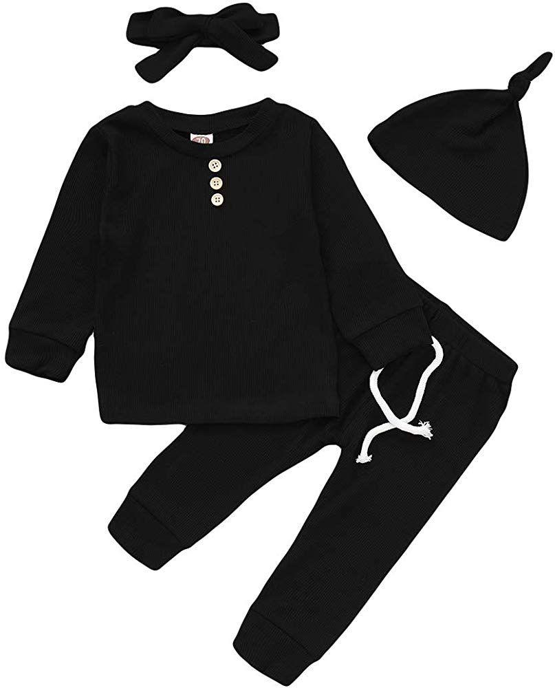 Hosen Trainingsanzug 0-1 Jahre 2Pc Neugeborenes Kinder Baby Jungs Outfits OH Boy Letter Drucken T-Shirt Tops Plaid Hose Kleinkind Lang/äRmlig Kleidung Sets Kapuzenpullover Sweatshirts