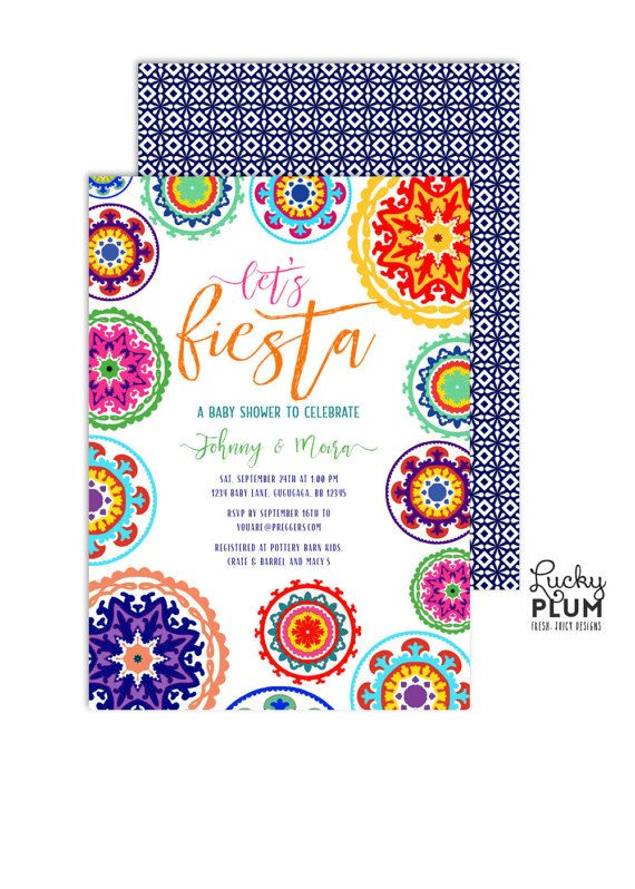 fiesta baby shower invitation couples baby shower invite mexican