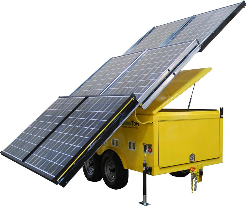 Trailer Models Green Tow Solar Powered Generator Solar Panels Solar