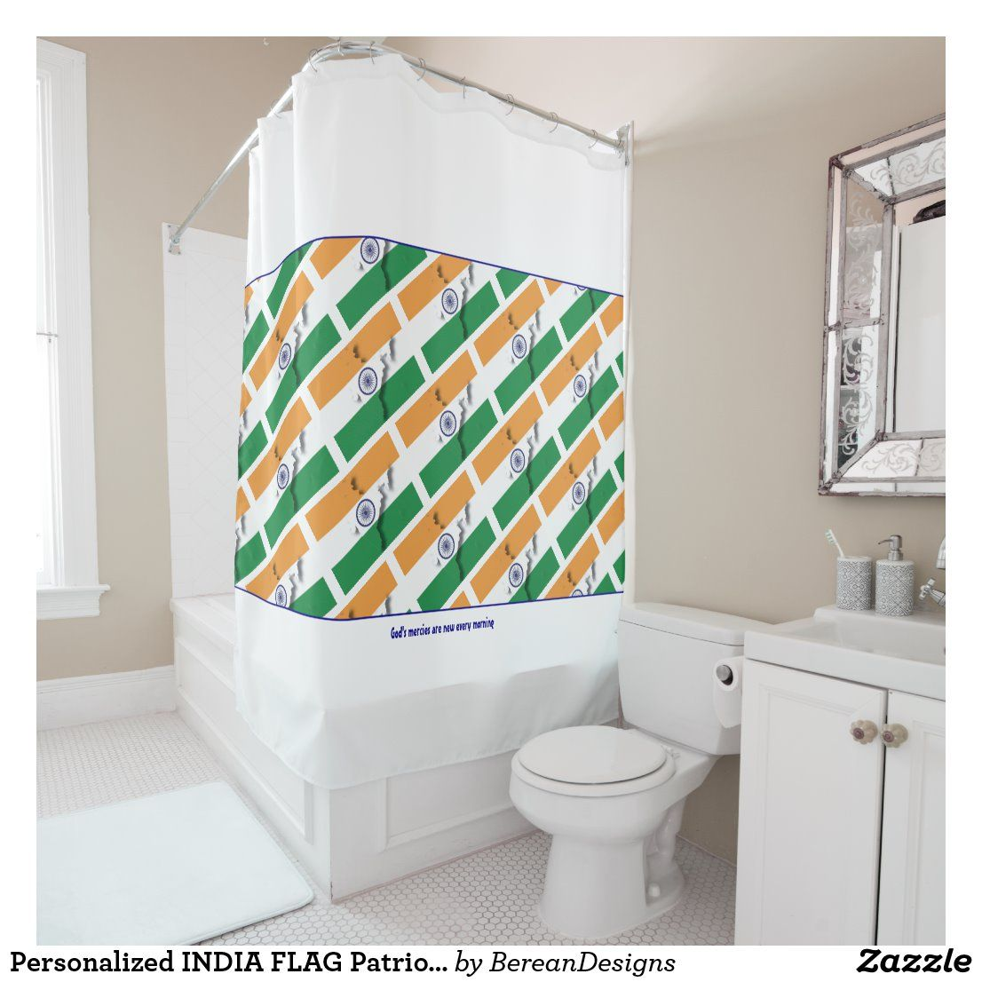 Emvency Patriotic Shower Curtain Holiday Shower Curtains Shower
