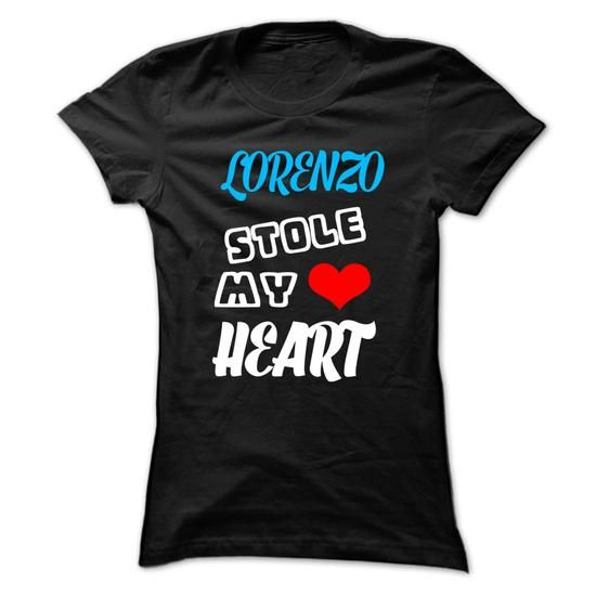 LORENZO Stole My Heart - 999 Cool Name Shirt ! - #grandparent gift #coworker gift. GET IT => https://www.sunfrog.com/Outdoor/LORENZO-Stole-My-Heart--999-Cool-Name-Shirt-.html?68278