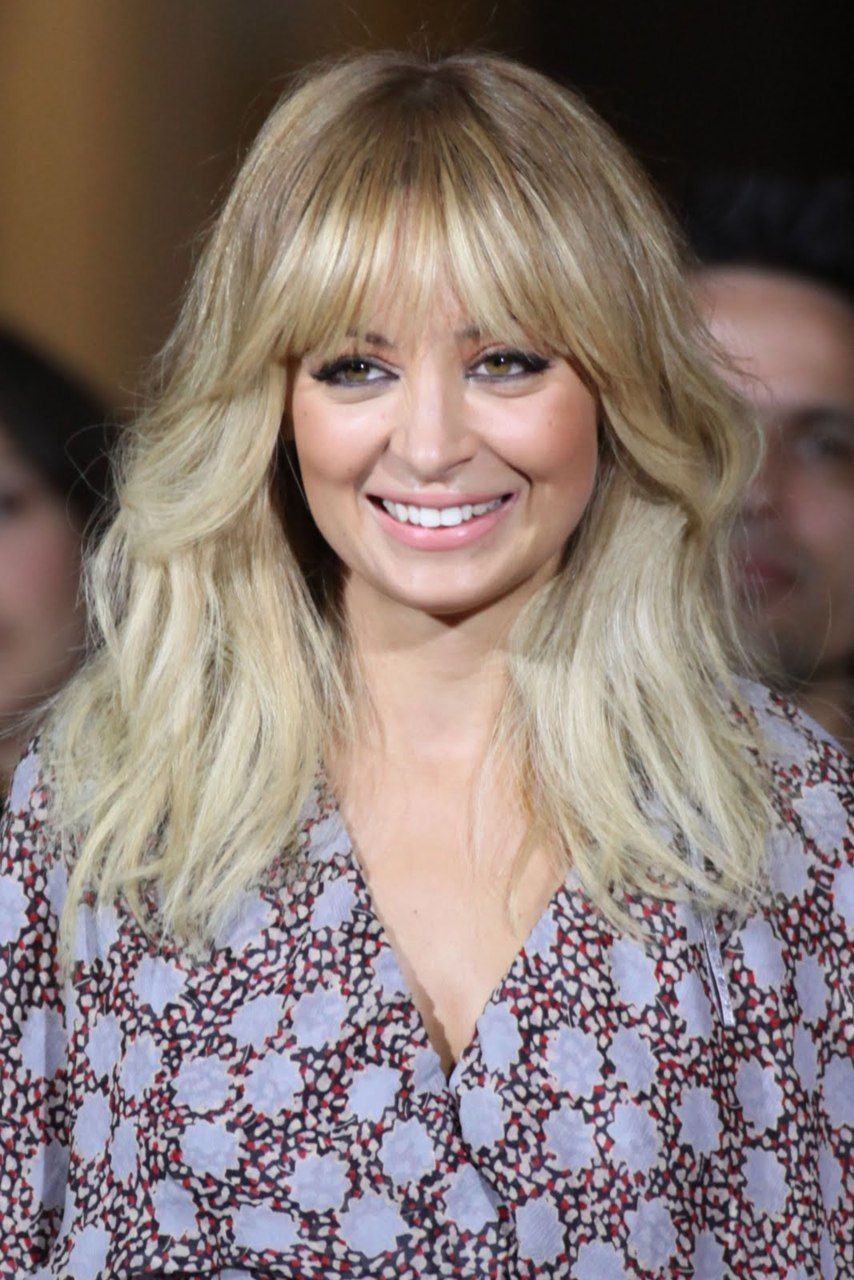 Long bangs like these can be worn straight down sideswept or