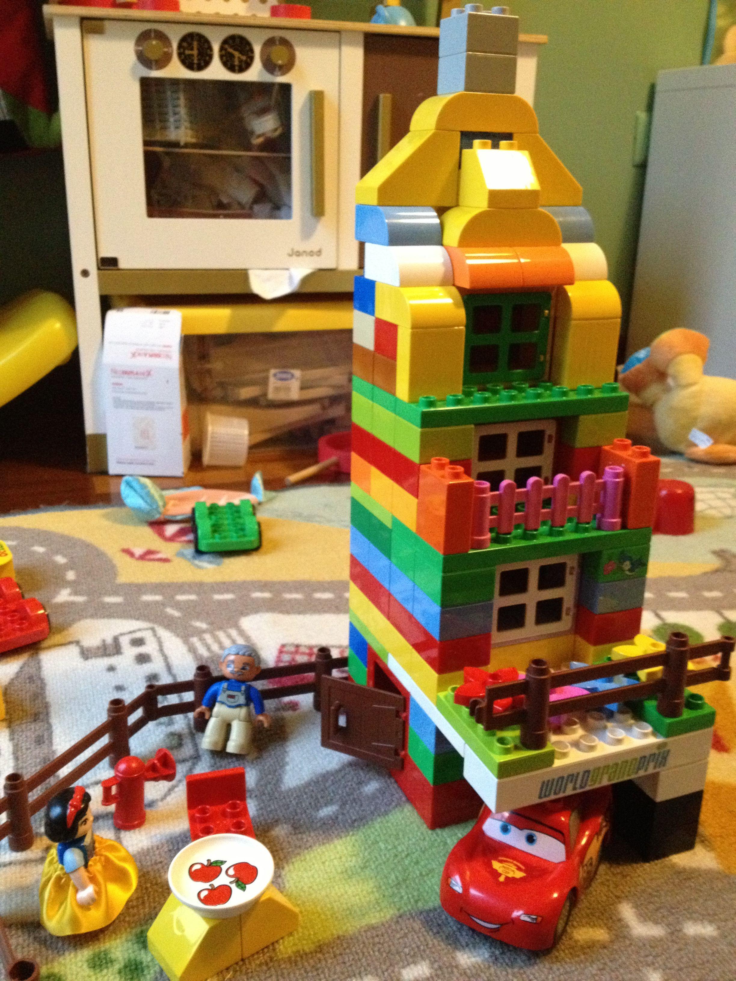 Verrassend Lego Duplo 3: casa a tre piani con balconi e garage, abitata KQ-01