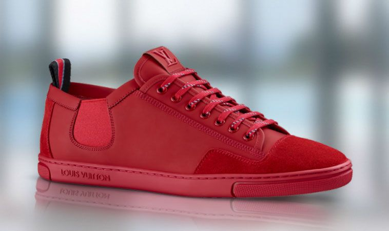 Louis Vuitton Mens Shoes Red Slalom Sneakers Spring Summer 2014 Collection Susse Schuhe Louis Vuitton Badebekleidung