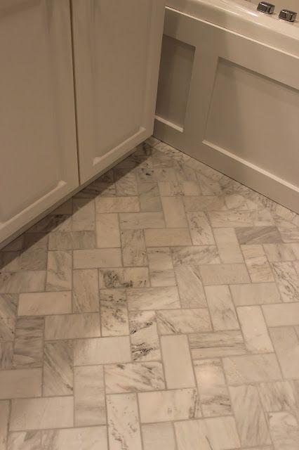 Master Bathroom Renovation Herringbone Floor Alexandra