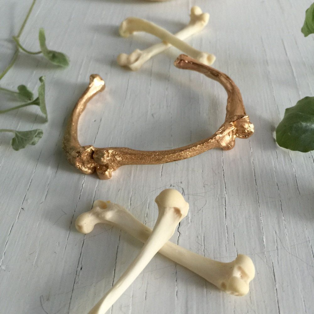 Golden Femur Cuff Bracelet by Chase and Scout. Curious handmade jewelry for men and women, based in Austin Texas.
