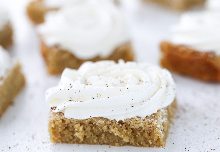 Browned Butter Eggnog Cookie Bars - Blahnik Baker