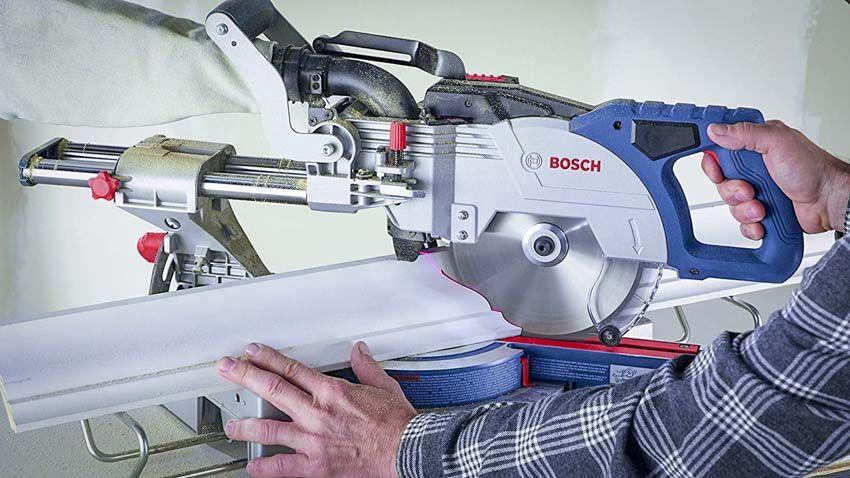 Bosch 18v Cordless 8 1 2 Miter Saw Gcm18v 08n Pro Tool Reviews Bosch Miter Saw Cordless