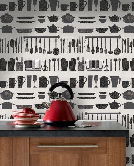 Contour es una marca de papel pintado perfecto para - Papel vinilo para cocinas ...