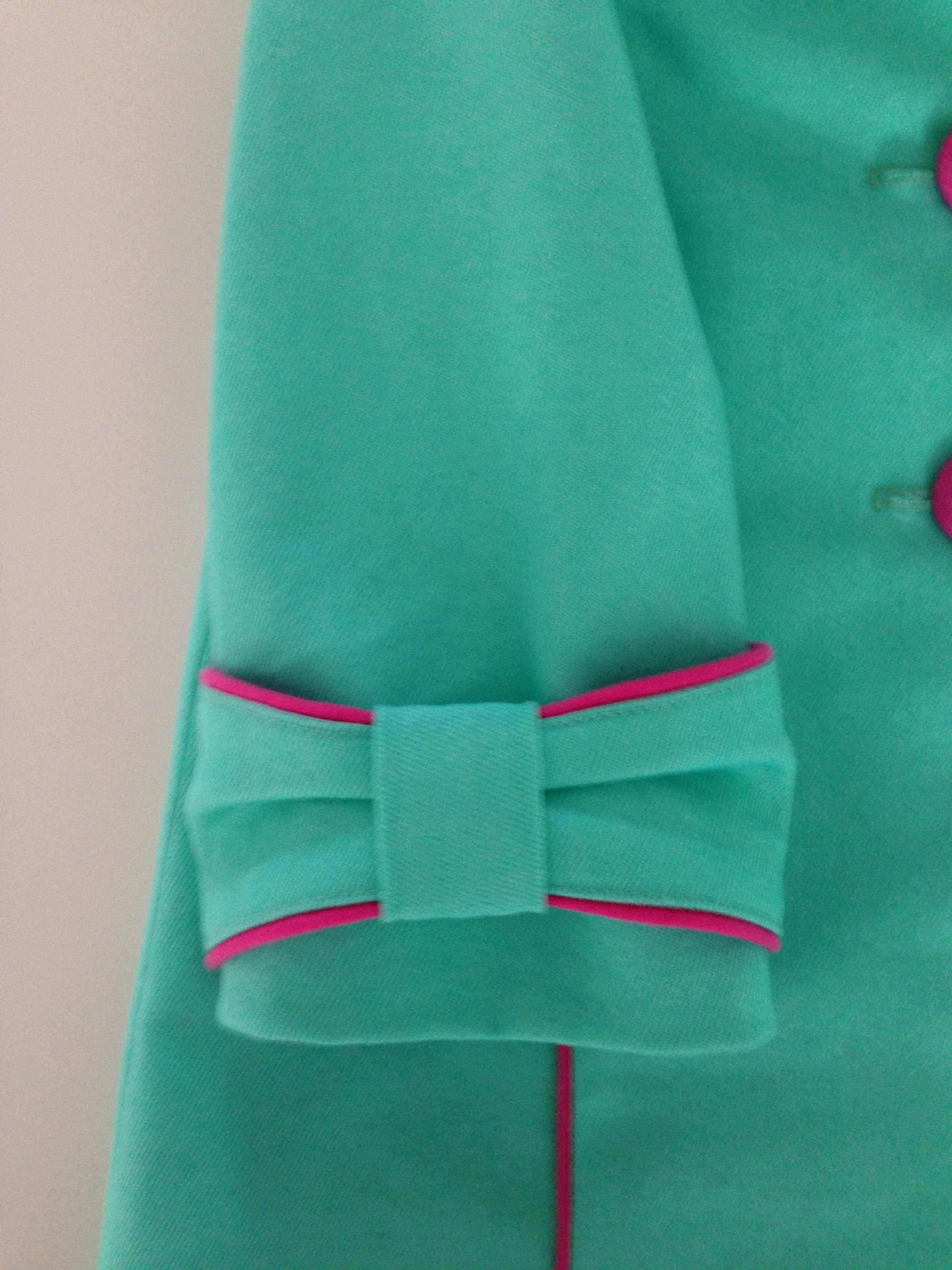 Piping bow turquoise  pink manteltje jackie also indian suits rh pinterest