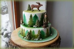 Torte Jager Hirsch Hund Und Hase Im Wald Anleitung Hunter Cake