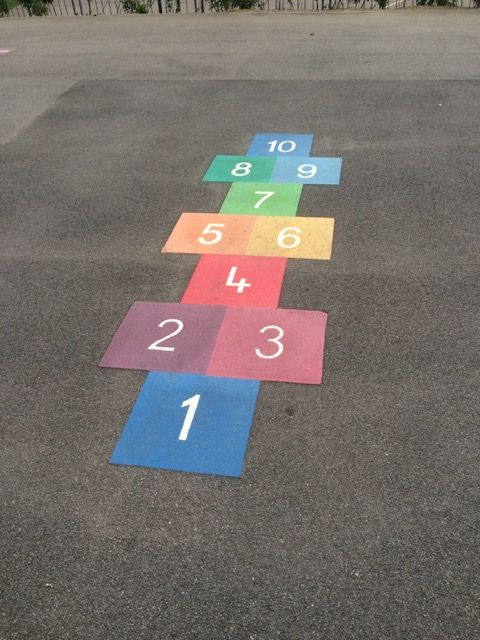 playground ; idea ; marking ; hopscotch | Preschool playground ...