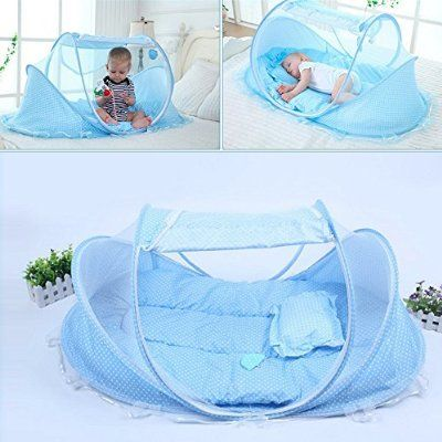 Crib Netting Infant Mosquito Net Baby Mosquito Net Newborn Mosquito Net 2 Colors Cotton-padded Mattress Summer Sleeping Creative Gifts Baby Baby Bedding