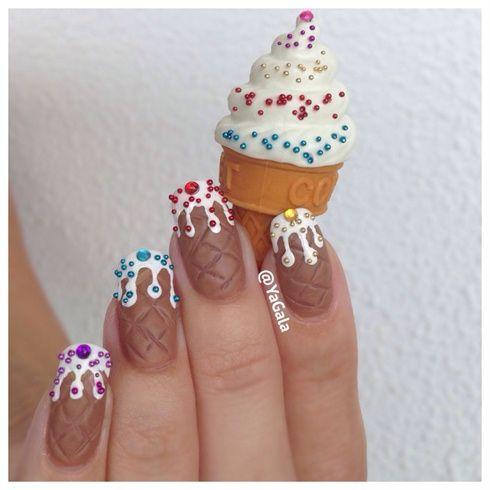 Ice Cream Nails by Yagala - Nail Art Gallery nailartgallery.nailsmag.com by Nails Magazine www.nailsmag.com #nailart