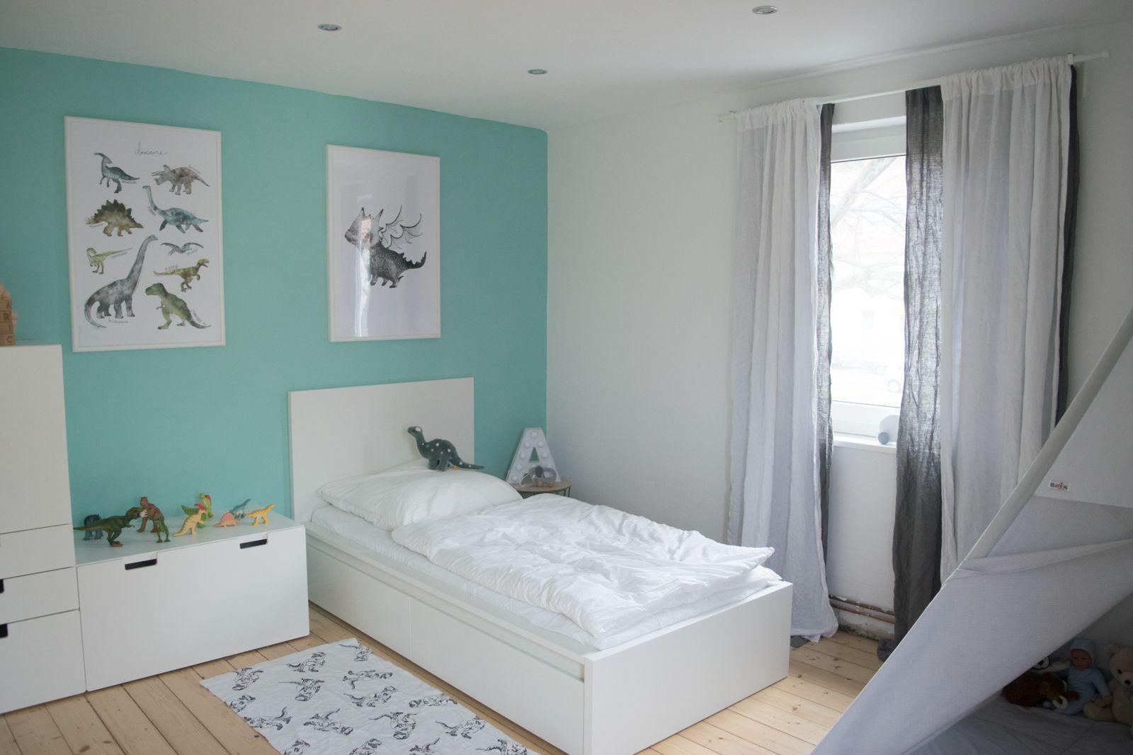 Inspirierend Jungen Babyzimmer Galerie Von Alpina Farbenfreunde Kinderzimmer Farbkonzept Geckogrün Grün Türkis