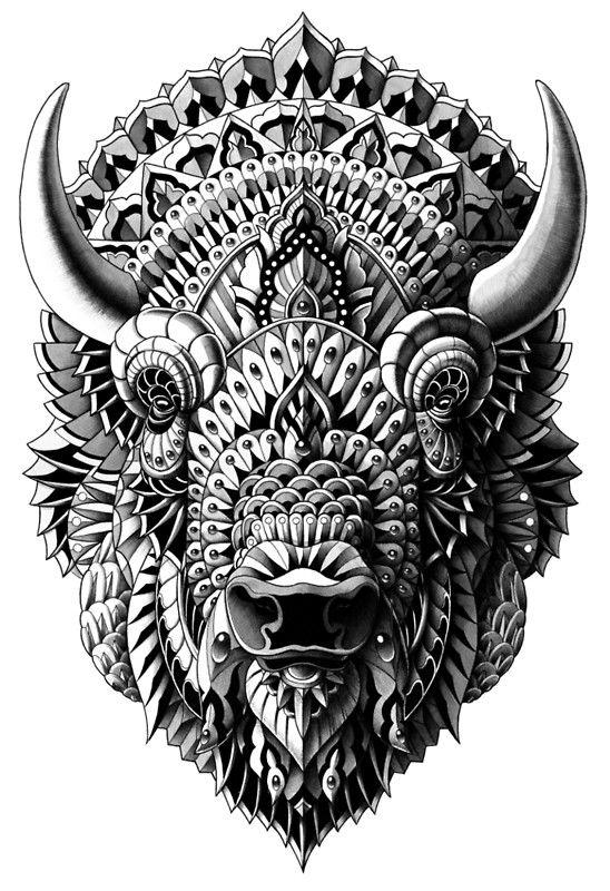 Bison By Bioworkz Bison Art Bison Tattoo Art