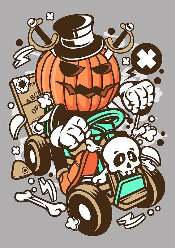 Halloween pumpkin Ride in 2020 Cartoon characters