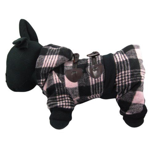 Alfie Couture Designer Pet Apparel - Hayley Flannel Coat Jumper - Color: Pink, Size: S - http://www.thepuppy.org/alfie-couture-designer-pet-apparel-hayley-flannel-coat-jumper-color-pink-size-s/