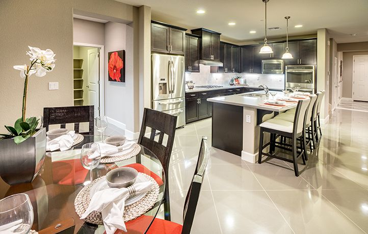Are dark cabinets with white counter tops your kitchen design style