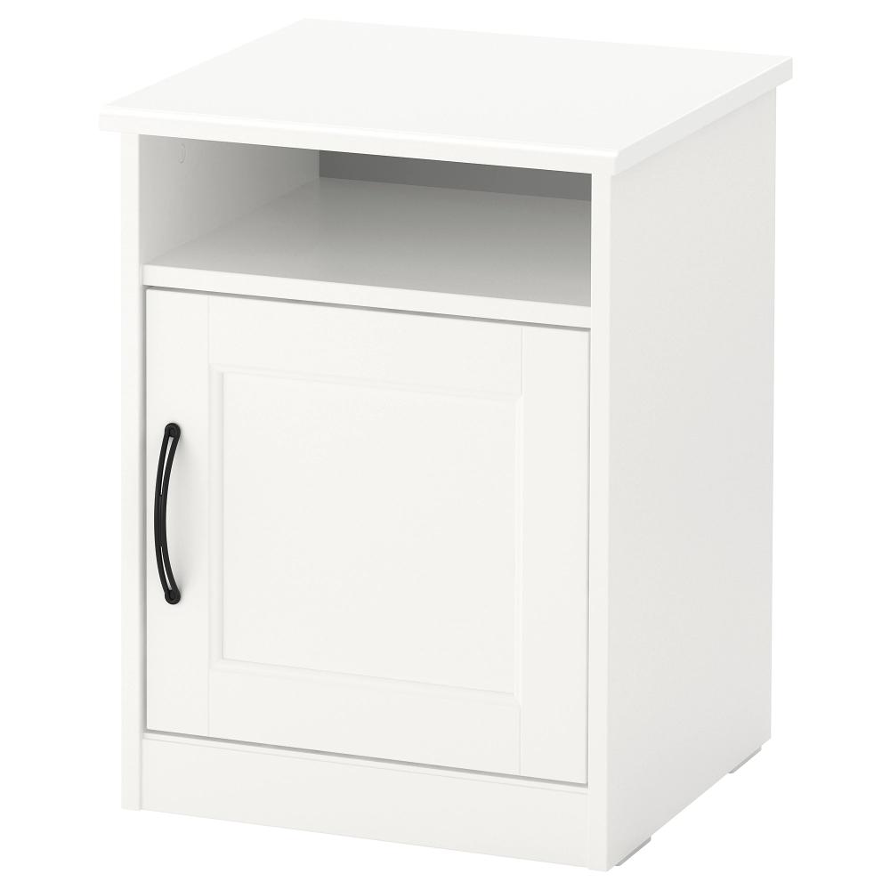 Songesand Bedside Table White Ikea In 2020 White Nightstand Ikea Nightstand