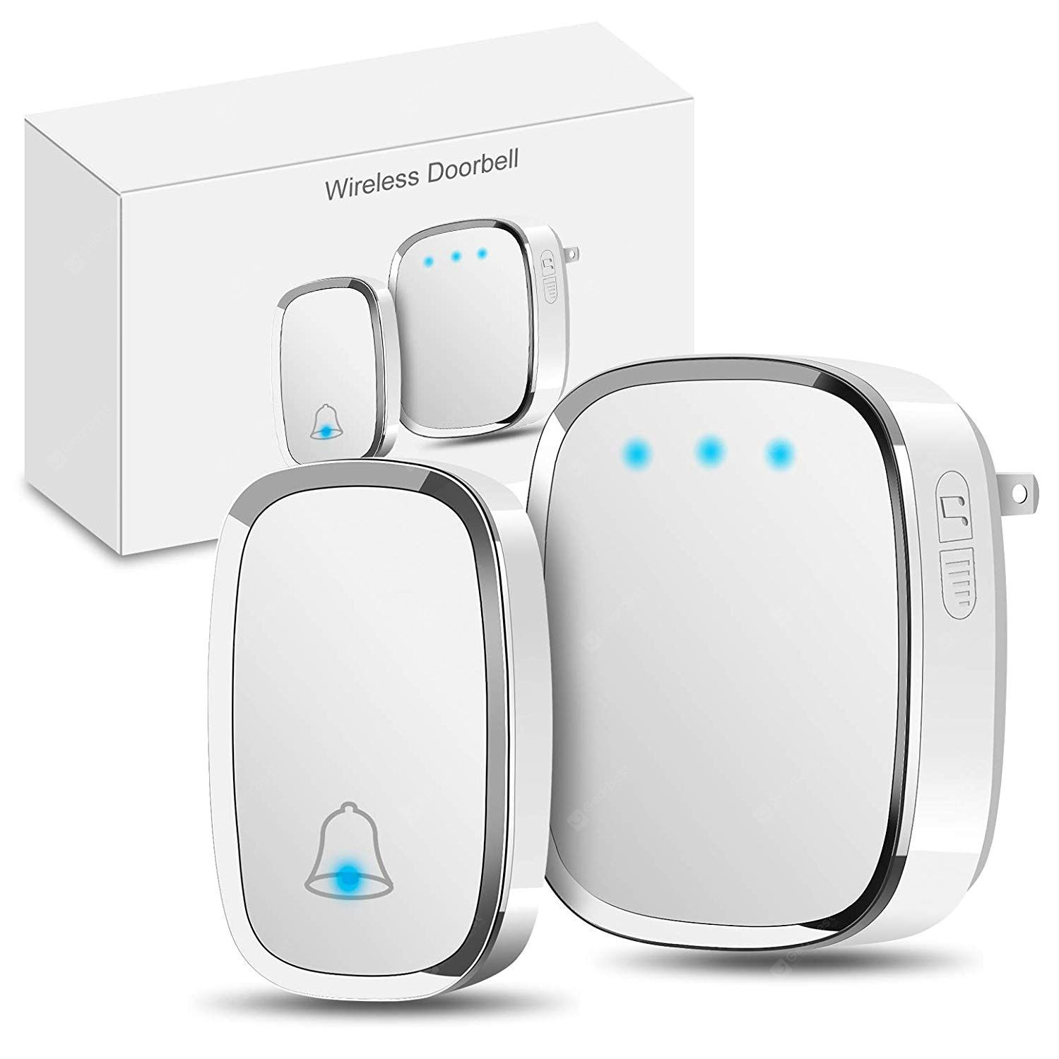 WIRELESS DOOR BELL 32 CHIME HOME CORDLESS PORTABLE 300M