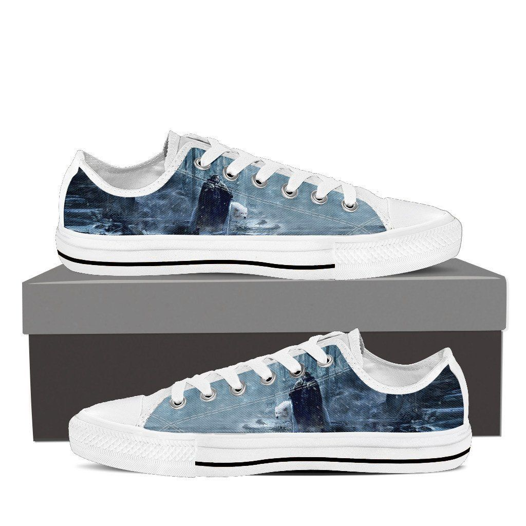 brand new e8dda 0f99e Game Of Thrones Mens Low Top Canvas White Shoes