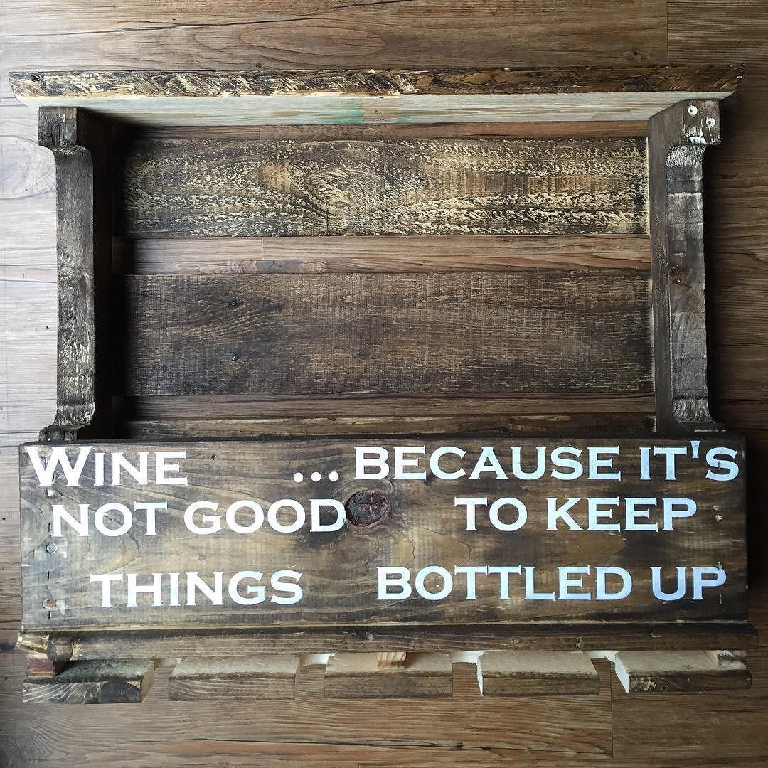 #primitivepallets #rustic #rusticdecor #recycledwood #reclaimedwood #wine #winerack #bottles #pallet #palletwood #palletproject $45.00  by primitivepallets