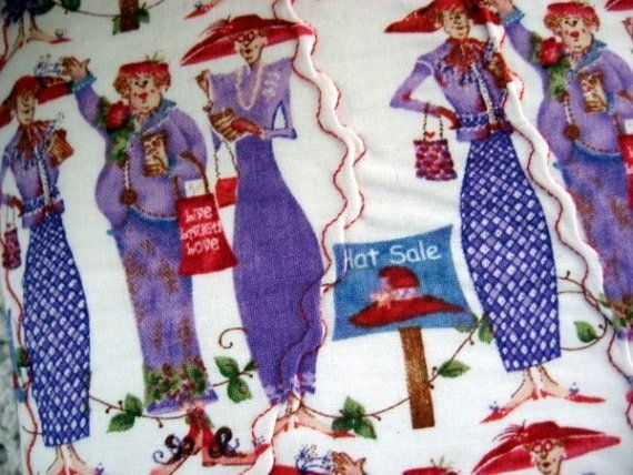 Cloth Book Covers For Sale : For red hatters hat sale a very fun fabric bookcover