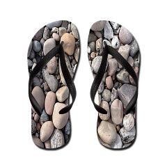 stones Flip Flops> simple basic  pattern dots, dashes, crosses, check> MehrFarbeimLeben