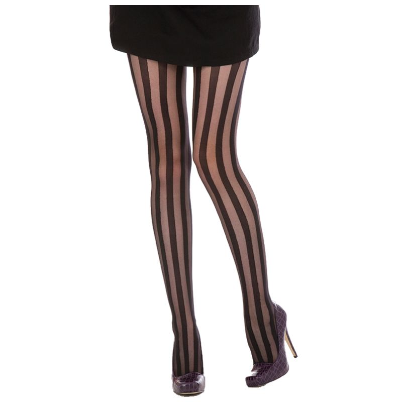Solid Stripe Pantyhose Stockings