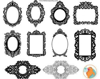 Ornate Baroque Frame Clip Art Gothic Digital Frames Png Clipart Photoshop Brushes Included Digital Stamps Baroque Frames Frame Clipart Digital Frame