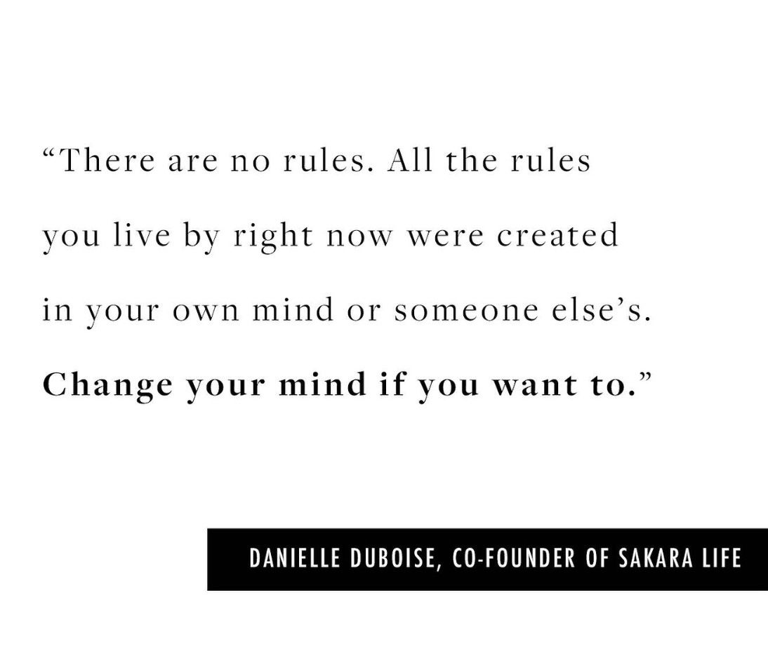 Opinions Are Not Rules Sakara Life Life You Changed