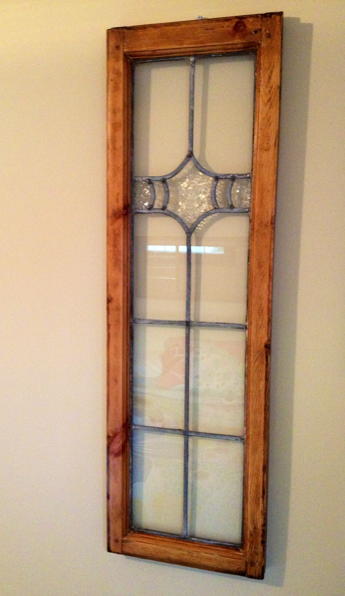 Leaded Gl Window Refinished And Repurposed Antiques